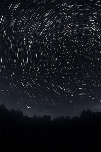 Ruch gwiazd na niebie, fotograf: Tomasz Sergej.
