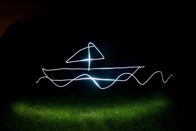 Przykład zdjęcia wykonanego w technice malowania światłem - Lightpainting ©Bastian Greshake