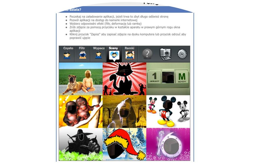 Zdjęcia kamerką internetową