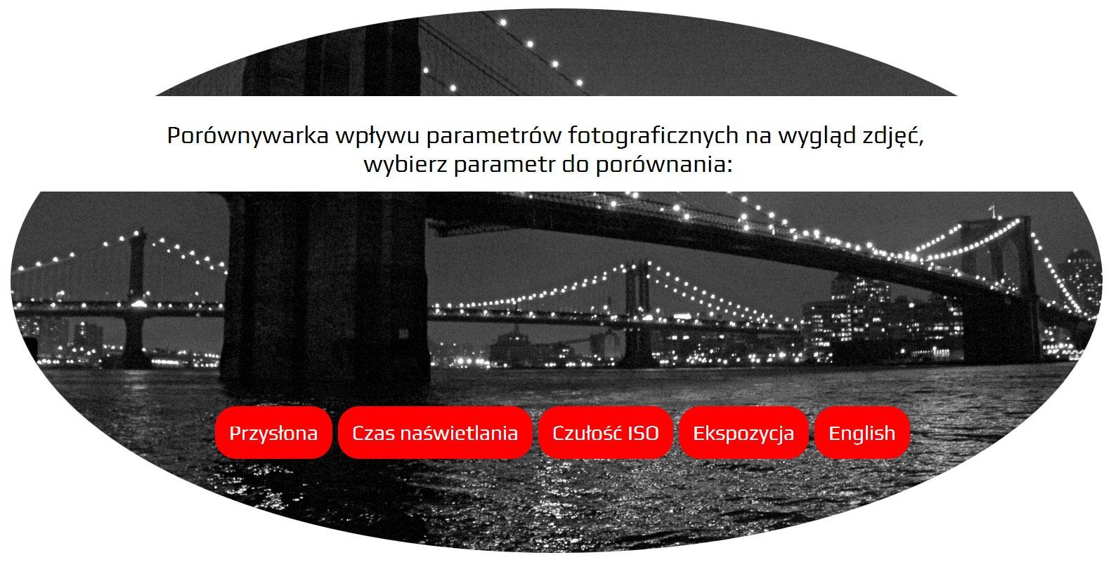 Porównywarka parametrów fotograficznych