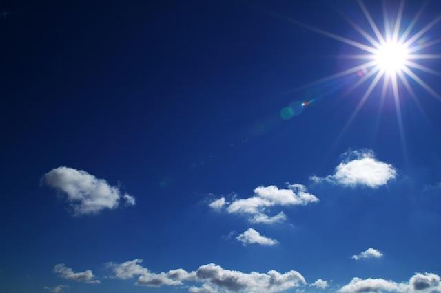 efekt słońca w kształcie gwiazdki