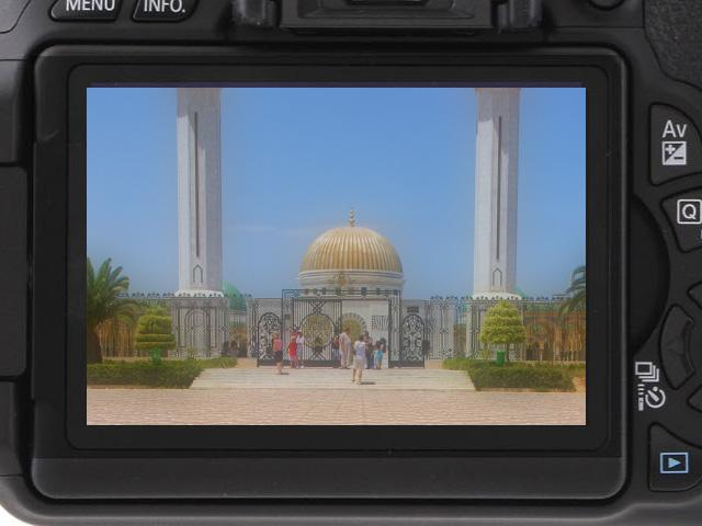 Sprawdź ostrość zdjęć na wyświetlaczu LCD