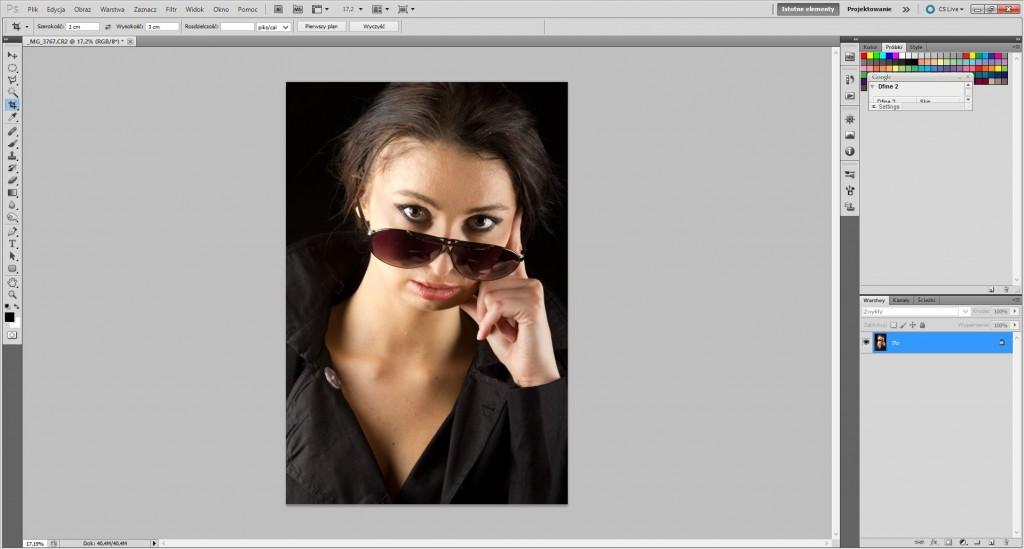 Plik otworzony w programie Adobe Photoshop CS5