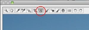 Narzędzie do prostowania zdjęć w programie Adobe Camera Raw