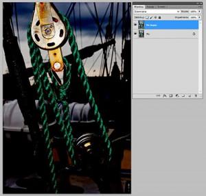 Tryb mieszania warstw Photoshopie - Burn (Ściemnianie)