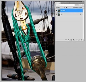 Tryb mieszania warstw Photoshopie - Overlay (Nakładka)