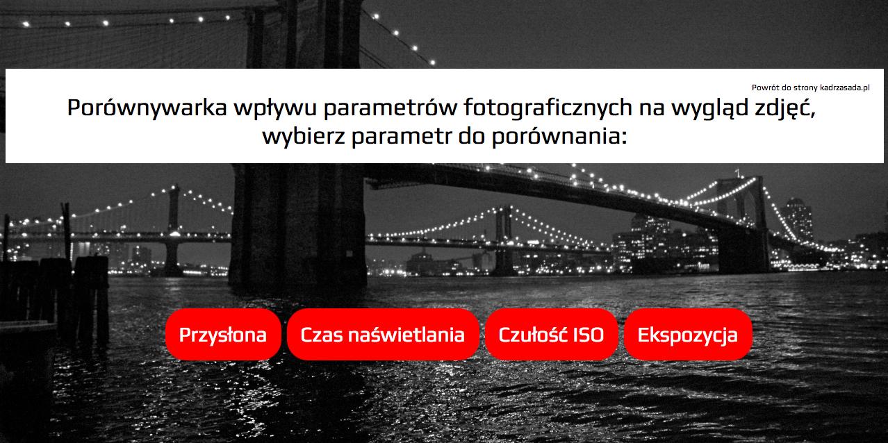 Porównywarka wpływu podstawowych parametrów fotograficznych na wygląd zdjęcia