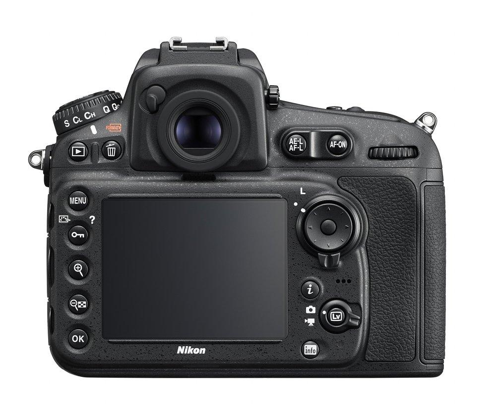 Nikon D810 widok z tyłu